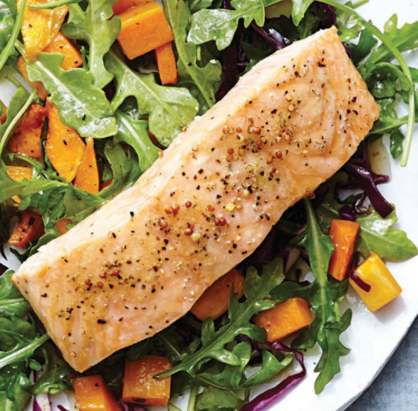 Roasted Salmon & Butternut Squash Salad