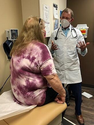 Physician Assistant helps cancer patient