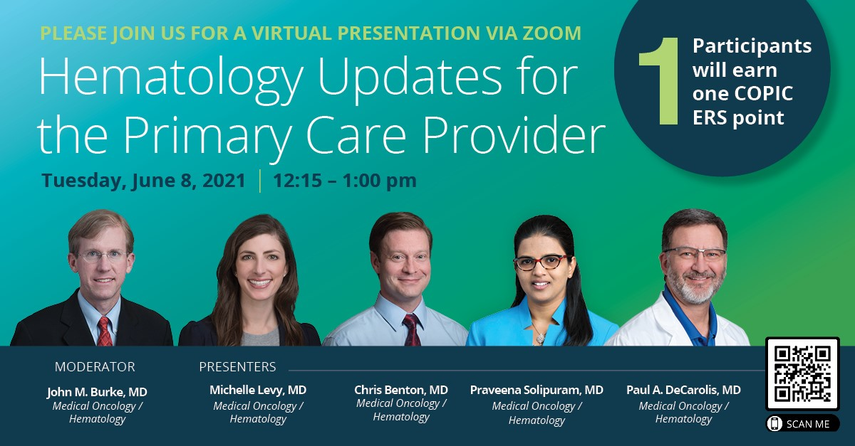Hematology Updates for the Primary Care Provider