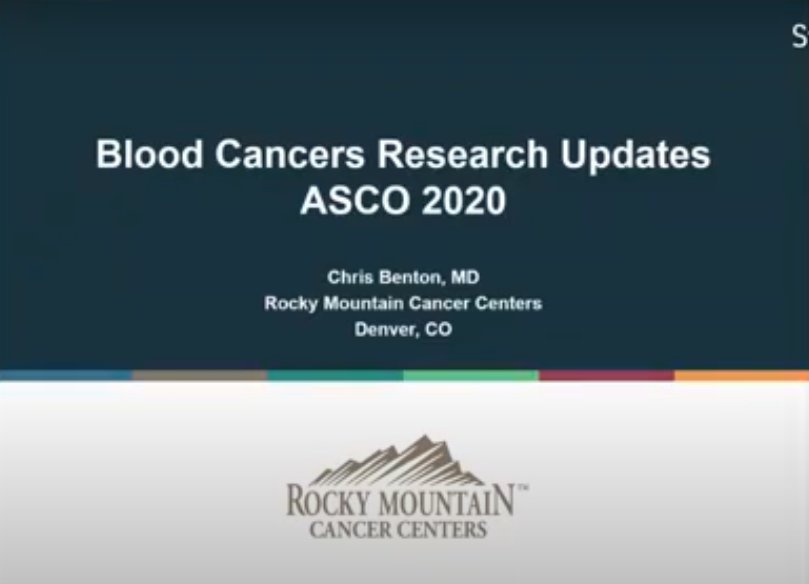 ASCO Updates Blood Cancers 2020