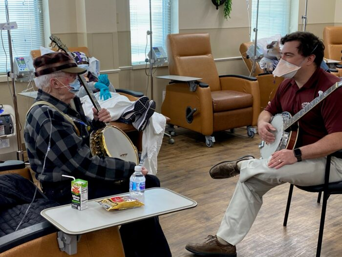 One man shares his love of music while undergoing treatment for rare type of lymphoma