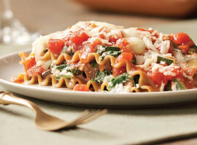 Slow-Cooker Vegetarian Lasagna